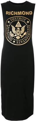 John Richmond logo sleeve-less sweater dress
