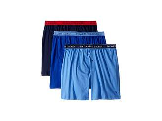 Polo Ralph Lauren Classic Fit w/ Wicking 3-Pack Knit Boxers