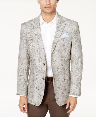 Tasso Elba Men's Floral Print Linen Sport Coat, Created for Macy's $150 thestylecure.com