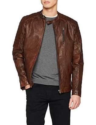 399c277a070 Jack and Jones NOS Men s Jjerichard Lamb Leather Jacket Noos Jacket