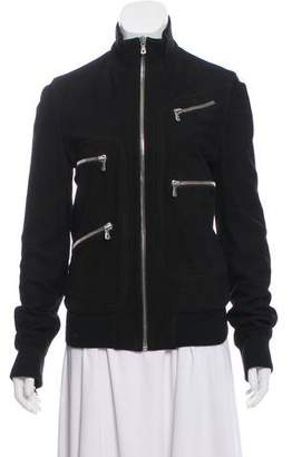 Dolce & Gabbana Zipper-Accented Leather Jacket