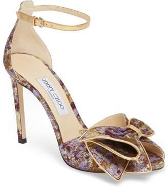 Jimmy Choo Karlotta Bow Peep Toe Pump