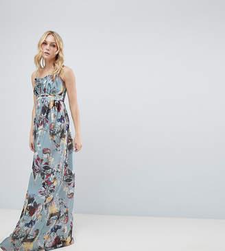 Little Mistress Tall Maxi Dress In Floral Print
