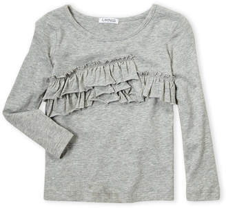 Flapdoodles Toddler Girls) Long Sleeve Ruffled Tee