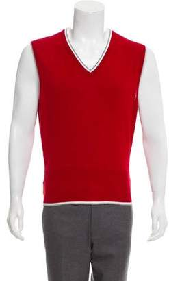 Black Fleece V-Neck Sweater Vest
