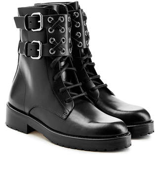 RED Valentino RED (V) Leather Ankle Boots