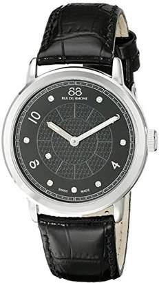 88 Rue du Rhone Women's 87WA120021 Analog Display Swiss Quartz Black Watch