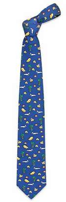 Renato Balestra Going on Vacation Blue Printed Silk Tie