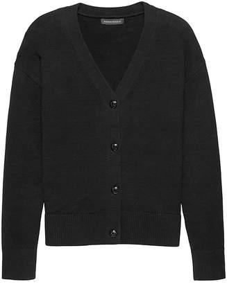 Banana Republic Supersoft Cotton Blend Boyfriend Cardigan Sweater