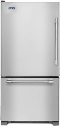 Maytag MBL1957FEZ - 30-inch Bottom Freezer Refrigerator with Freezer Drawer - Fingerprint Resistant Stainless Steel