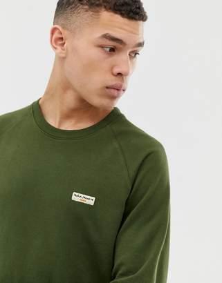 Nudie Jeans Samuel basic logo sweatshirt in khaki