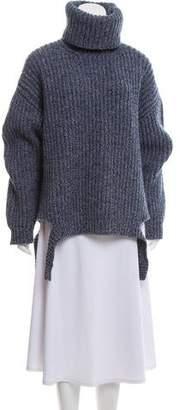Balenciaga Medium-Weight Oversize Wool Turtleneck Sweater