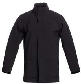 Ermenegildo Zegna Men's Zip-Front Wool-Blend Jacket - Black - Size Large