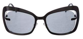 Bottega Veneta Tinted Metal Sunglasses