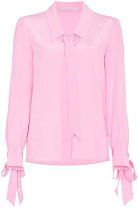 Marco De Vincenzo long sleeve silk shirt with bows