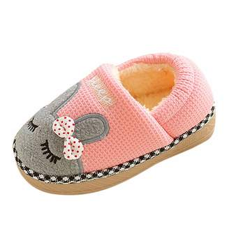 OUSLIN Slippers,Baby Infant Girls Boys Home Slippers Cartoon Warm Indoors Shoes