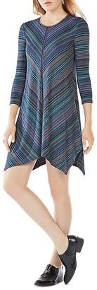 BCBGMAXAZRIA Carmela Striped Jersey Dress $198 thestylecure.com