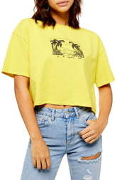 Topshop Sunset Palm Graphic Tee
