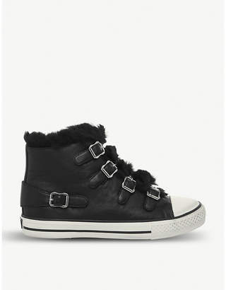 Black High Top Trainers With Fur Women - ShopStyle UK ed385828c