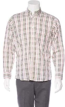 Burberry Woven Plaid Shirt