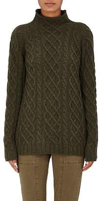 Barneys New York Women's Cashmere Cable-Knit Fisherman Sweater
