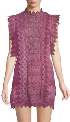 Isabel Marant Nubia Pinked Eyelet Apron Dress