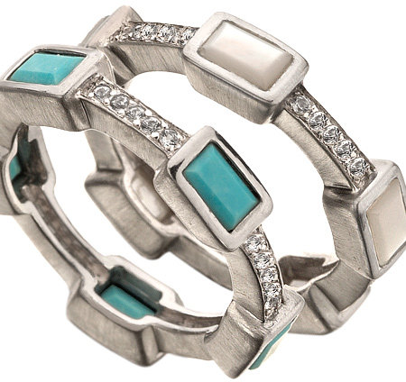 Elizabeth Showers Deco Stack Rings
