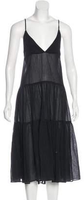 Mara Hoffman Sheer Sleeveless Midi Dress w/ Tags