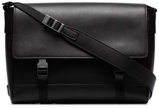 Prada black Saffiano leather messenger bag