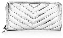 Rebecca Minkoff Women's Edie Quilted Metallic Leather Continental Wallet