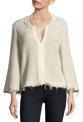 IRO Koltone Frayed Knit Top