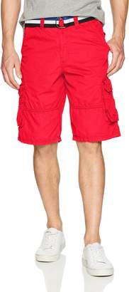 Southpole Men's Mini Canvas Basic Cargo Shorts