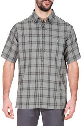 Haggar Microfiber Plaid Shirt