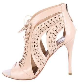 Alaia Whipstitch Cutout Sandals