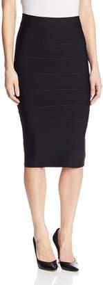 BCBGMAXAZRIA Women's Leger Bandage Mid Length Pencil Skirt