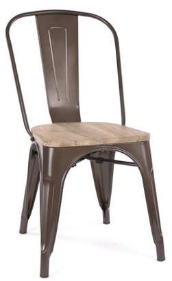 Design Lab MN Dreux Rustic Matte Light Elm Wood Stackable Side Chair (Set of 2)