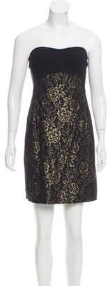 Diane von Furstenberg Strapless Garland Dress
