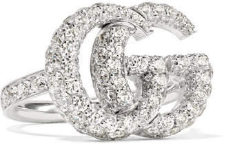 Gucci 18-karat White Gold Diamond Ring