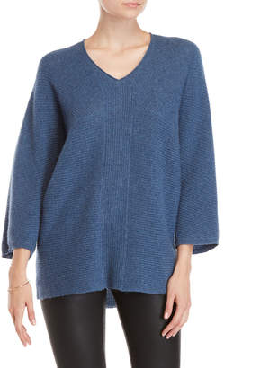 Ply Cashmere Three-Quarter Dolman Sleeve Cashmere Sweater