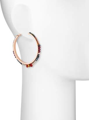 Nakamol Multi-Crystal Hoop Earrings