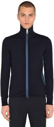 Prada Zip-Up Wool Knitsweater