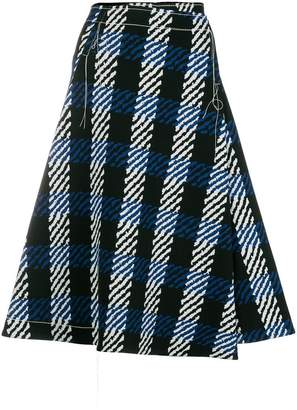 Marni abstract check print skirt