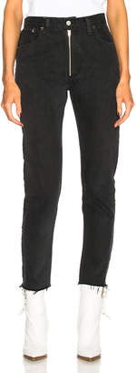 RE/DONE LEVI'S High Rise Zip Front Ankle