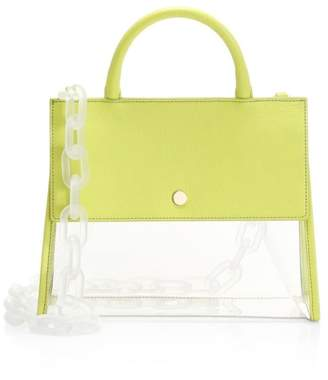 clear Oad Harper PVC & Leather Tote