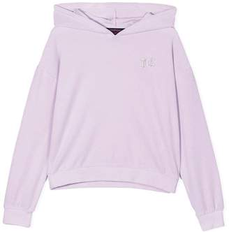 Juicy Couture (ジューシー クチュール) - Juicy Couture Kids Swarovski personalisable velour hooded pullover