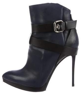 Baldinini Leather Pointed-Toe Boots