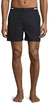 Fred Perry Bomber-Tape Swim Shorts $95 thestylecure.com