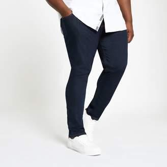 River Island Mens Big and Tall dark Blue skinny fit jeans