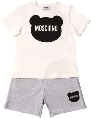 Moschino Cotton Jersey T-Shirt & Sweat Shorts