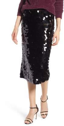 Halogen Paillette Pencil Skirt